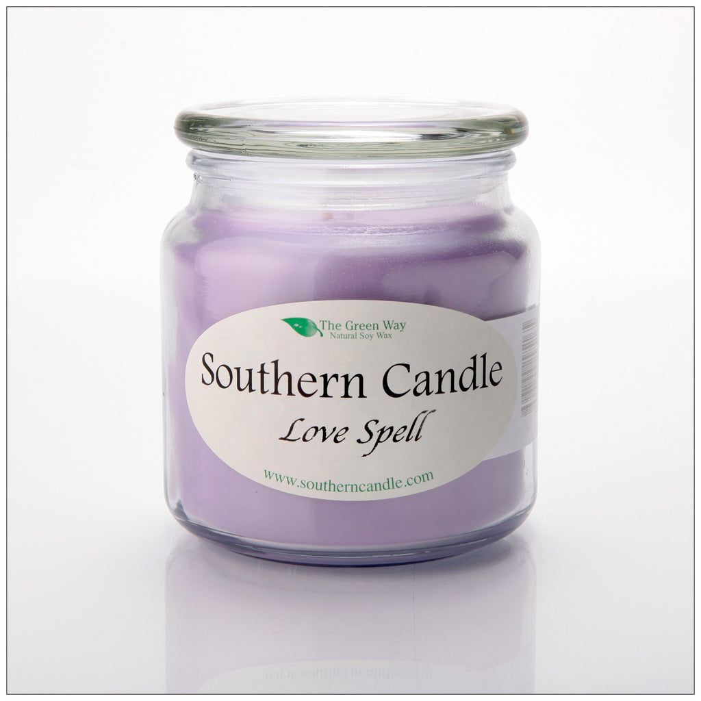 Love Spell 16 oz Decorator Jar Natural Soy Wax Candle - Southern Candle Classics