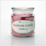 Mulberry 16 oz Decorator Jar Natural Soy Wax Candle - Southern Candle Classics