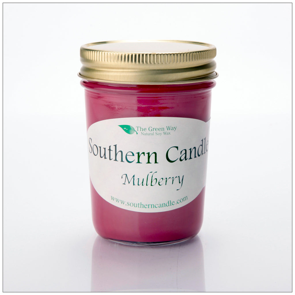 Mulberry - 8 oz Heritage Jar Natural Soy Wax Candle - Southern Candle Classics