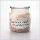 Oatmeal Raisin Cookie 16 oz Decorator Jar Natural Soy Wax Candle - Southern Candle Classics