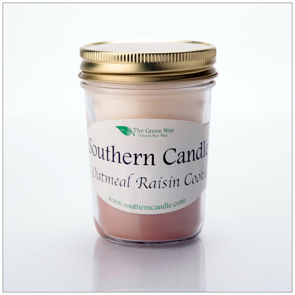 Oatmeal Raisin Cookie - 8 oz Heritage Jar Natural Soy Wax Candle - Southern Candle Classics