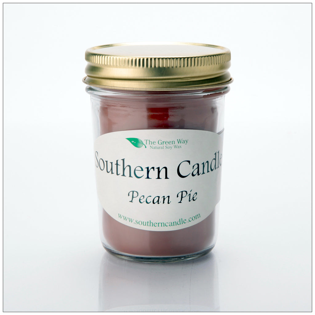 Pecan Pie - 8 oz Heritage Jar Natural Soy Wax Candle - Southern Candle Classics