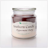 Peppermint Patty 16 oz Decorator Jar Natural Soy Wax Candle - Southern Candle Classics