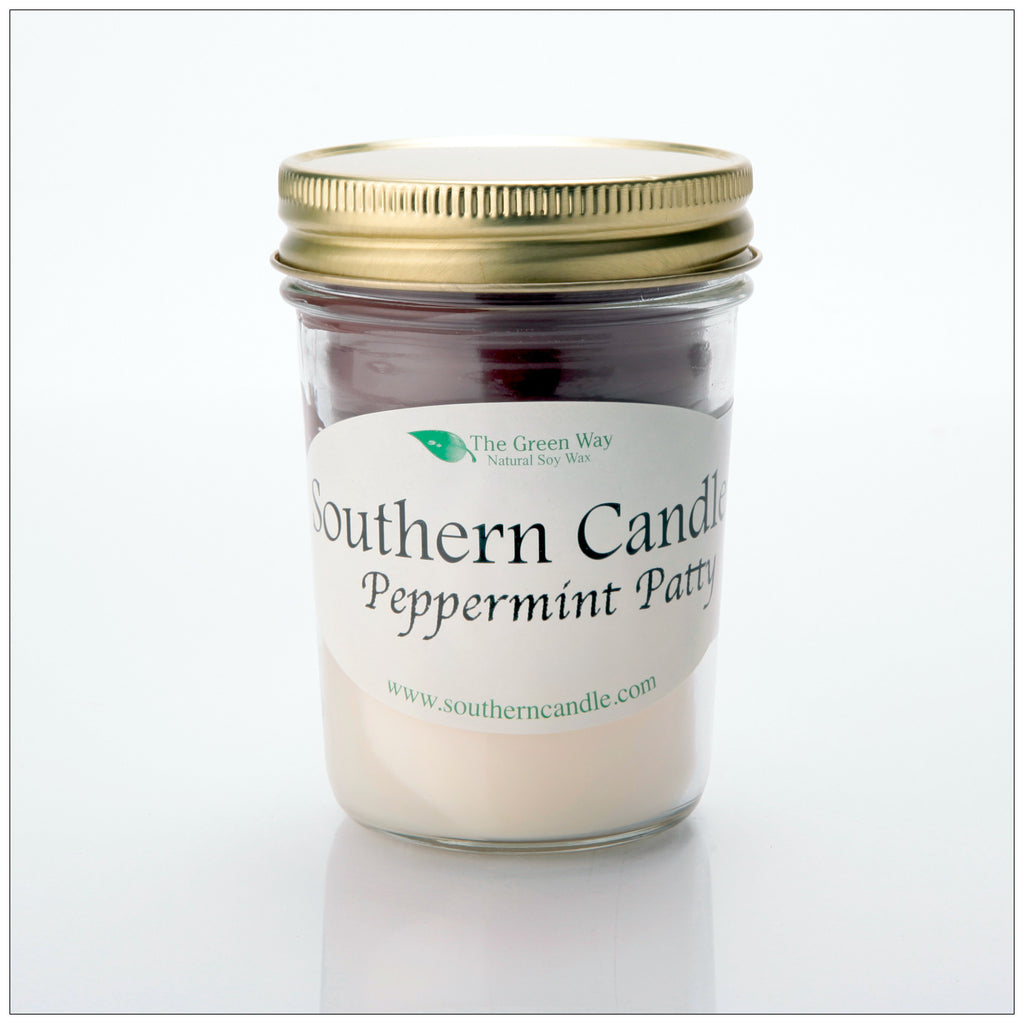 Peppermint Patty - 8 oz Heritage Jar Natural Soy Wax Candle - Southern Candle Classics
