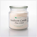 Pina Colada 16 oz Decorator Jar Natural Soy Wax Candle - Southern Candle Classics