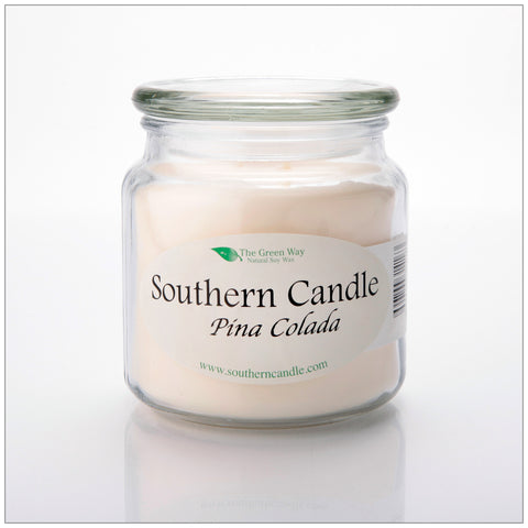 Pina Colada - 8 oz Heritage Jar Natural Soy Wax Candle