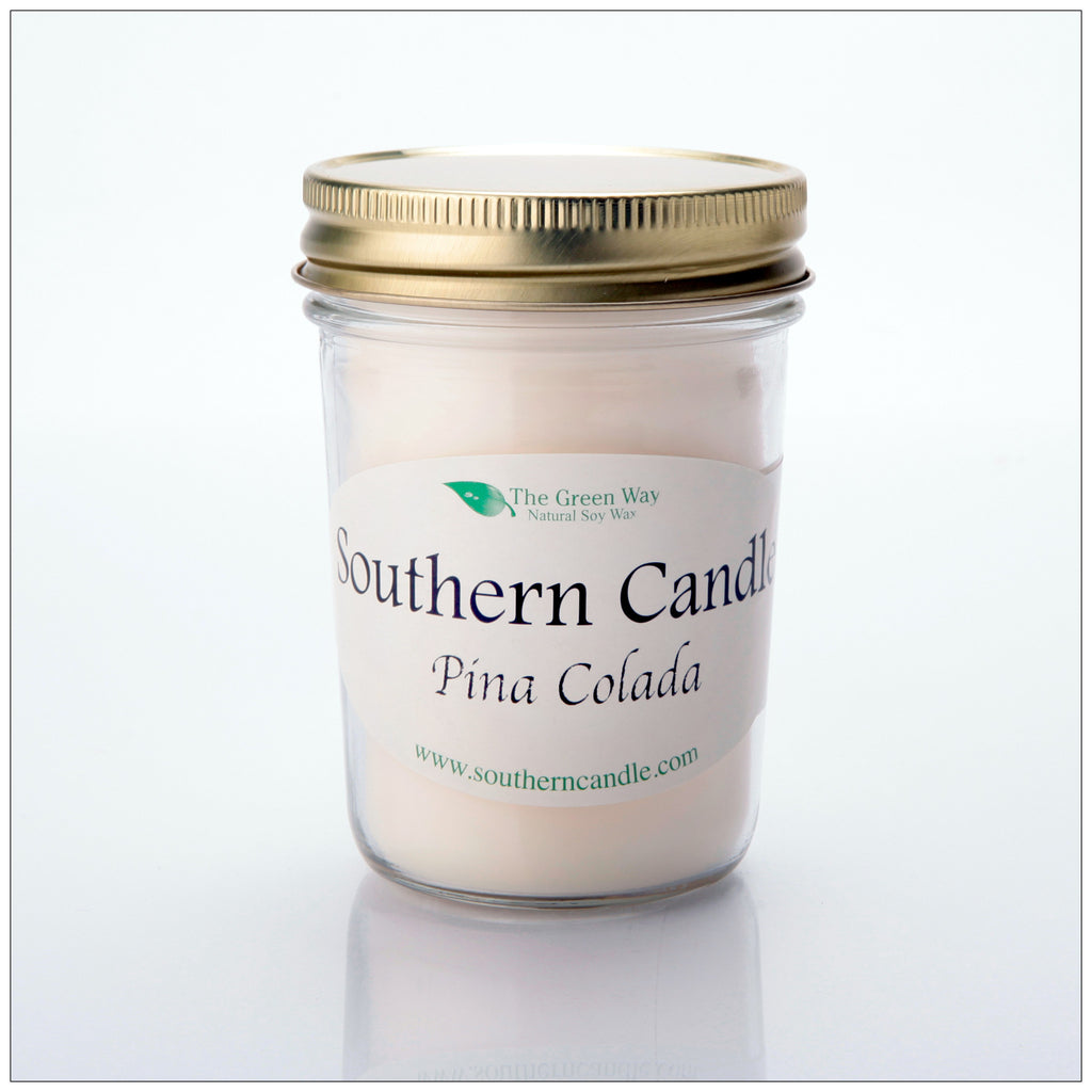 Pina Colada - 8 oz Heritage Jar Natural Soy Wax Candle - Southern Candle Classics