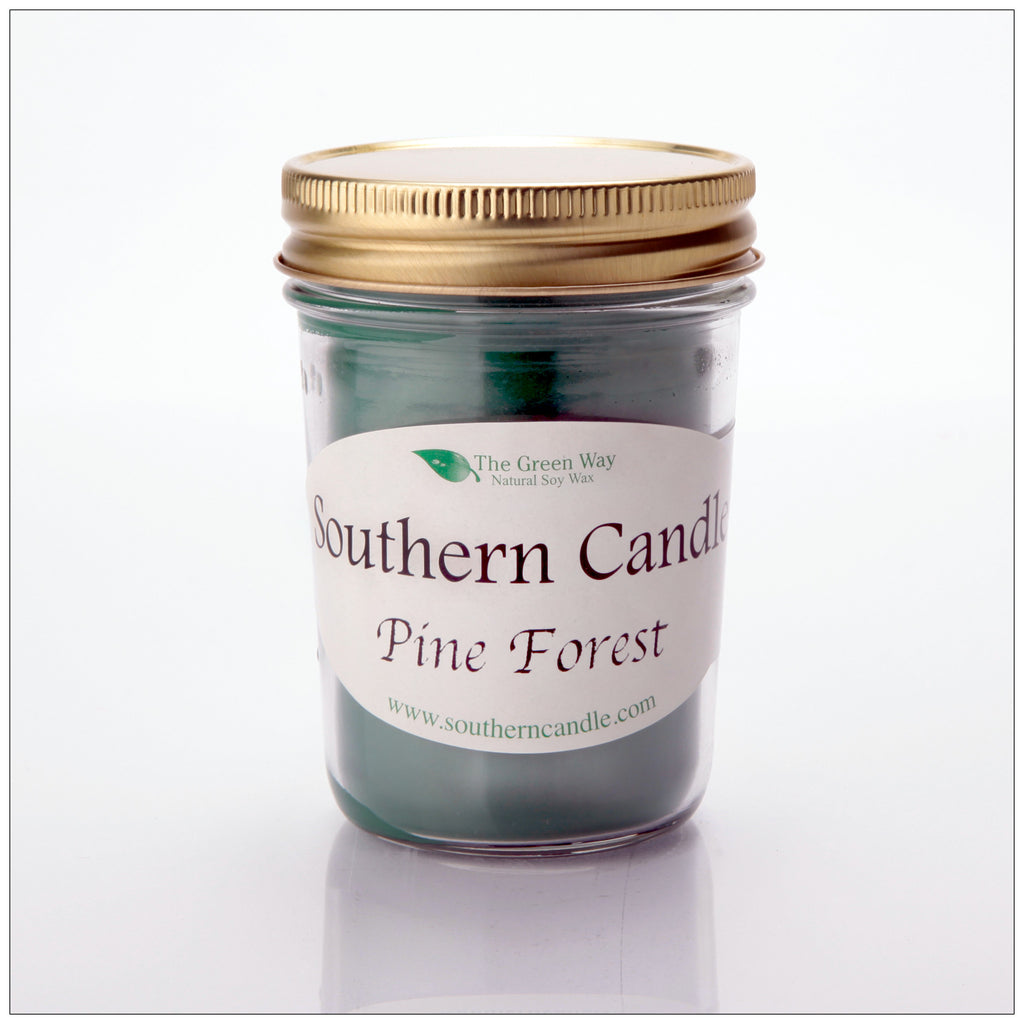 Pine Forest - 8 oz Heritage Jar Natural Soy Wax Candle - Southern Candle Classics