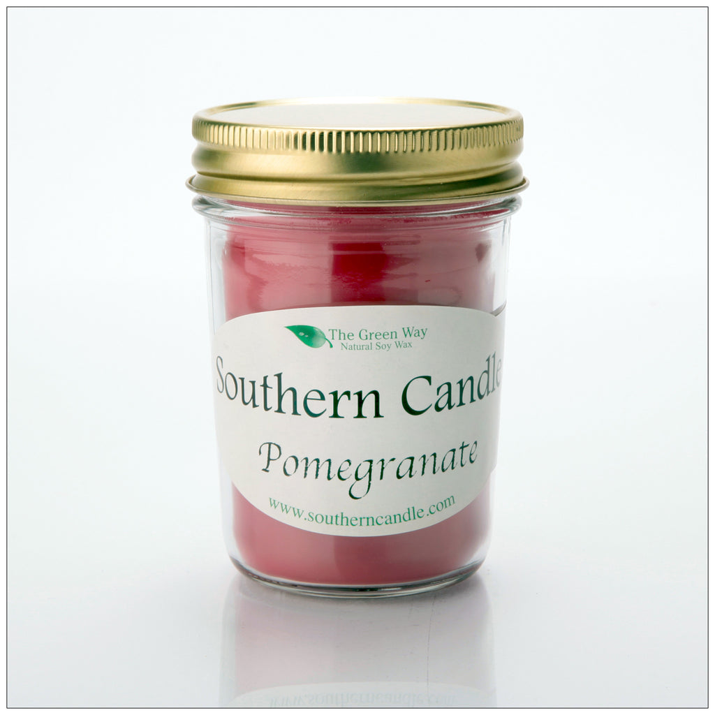 Pomegranate - 8 oz Heritage Jar Natural Soy Wax Candle - Southern Candle Classics
