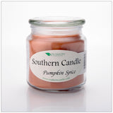 Pumpkin Spice 16 oz Decorator Jar Natural Soy Wax Candle - Southern Candle Classics