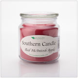 Red Macintosh Apple 16 oz Decorator Jar Natural Soy Wax Candle - Southern Candle Classics