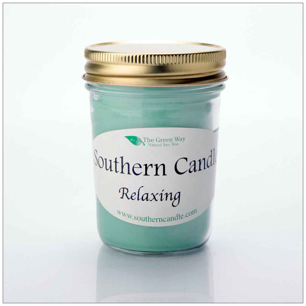 Relaxing - 8 oz Heritage Jar Natural Soy Wax Candle - Southern Candle Classics