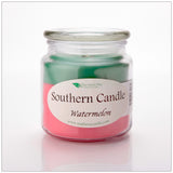 Watermelon 16 oz Decorator Jar Natural Soy Wax Candle - Southern Candle Classics