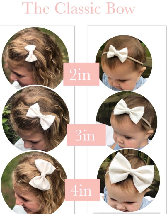 4 inch - Sweetheart Pink Bow