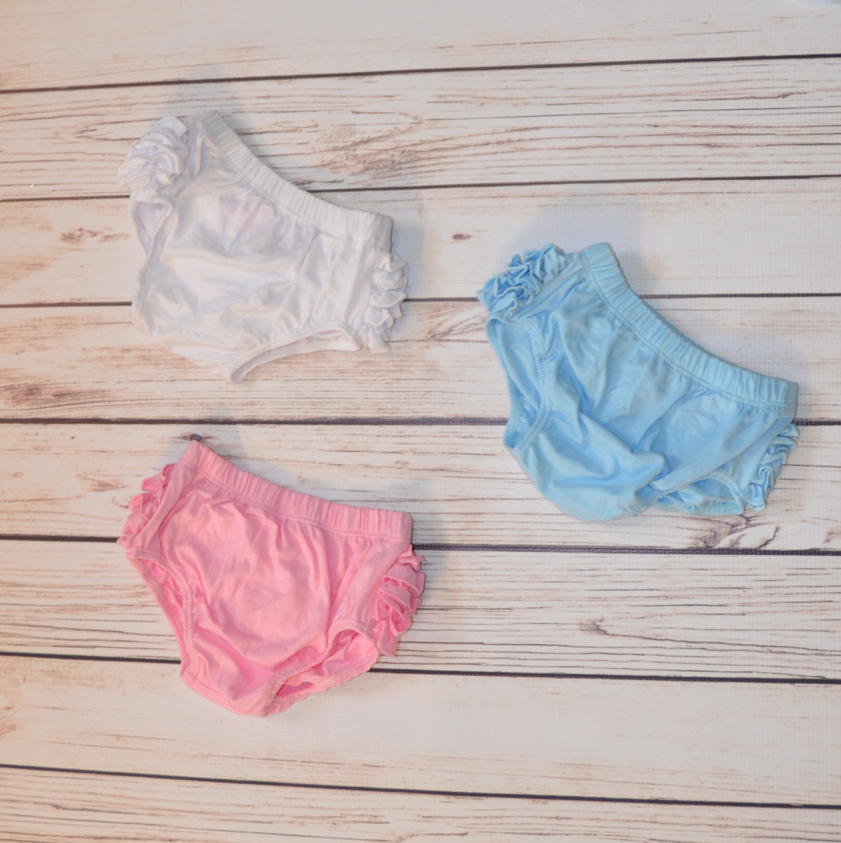 Light Blue Ruffle Bloomers
