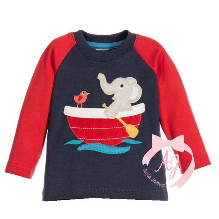 Long Sleeve Elephant in a Boat