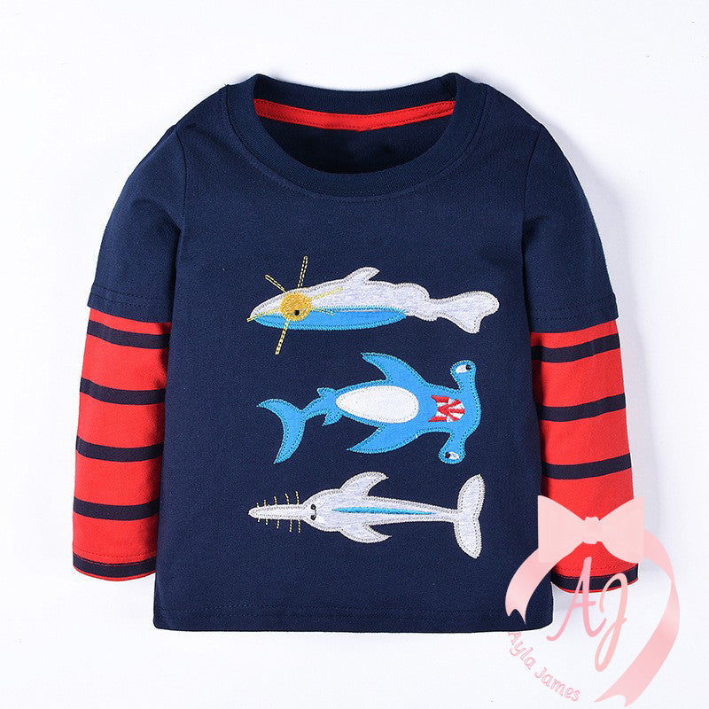 Long Sleeve Shark Shirt