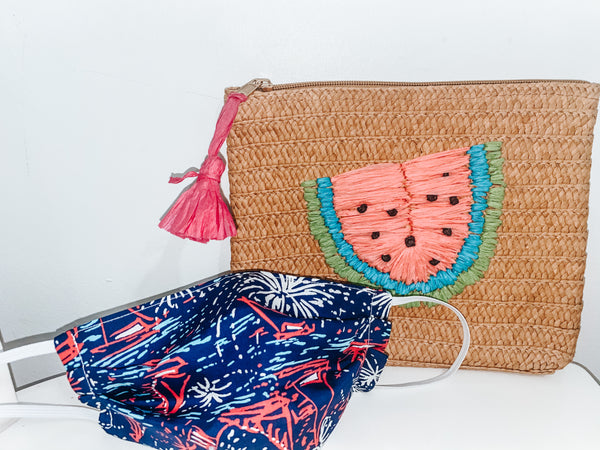 4th of July - Lilly Inspired & Watermelon Straw Carry All
