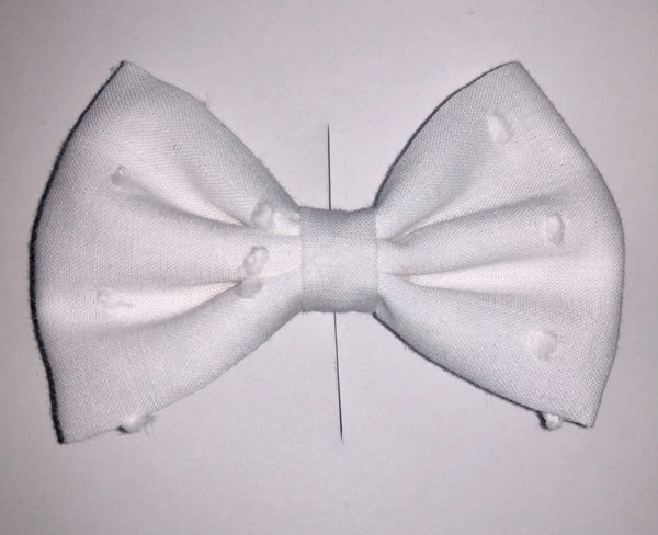 3 inch - White Swiss Bow