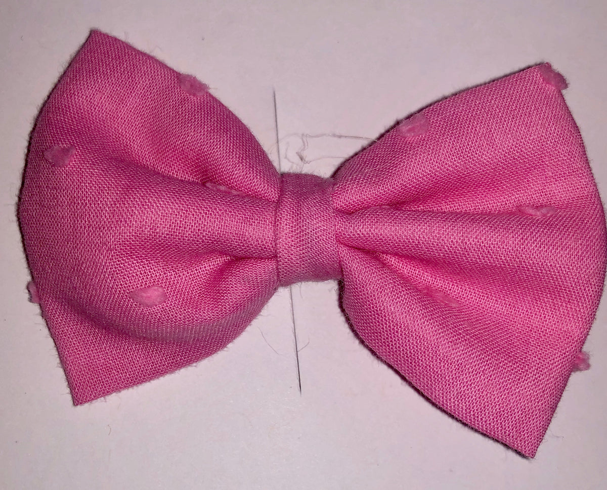 3 inch - Pink Swiss Bow or Headband