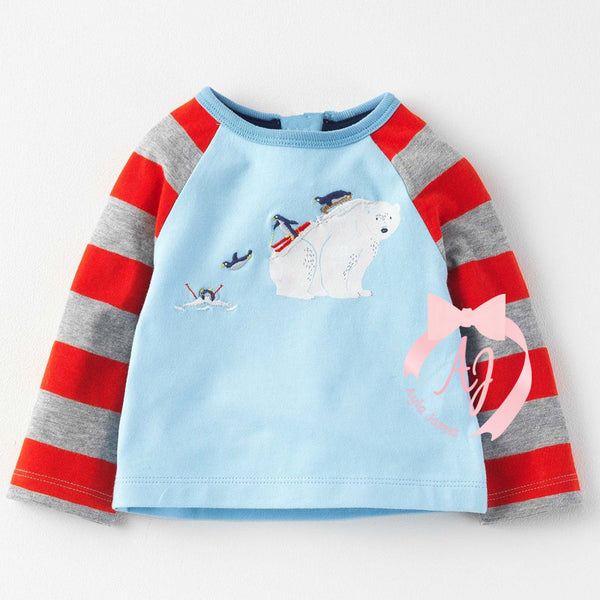 Long Sleeve Polar Bear with Penguins