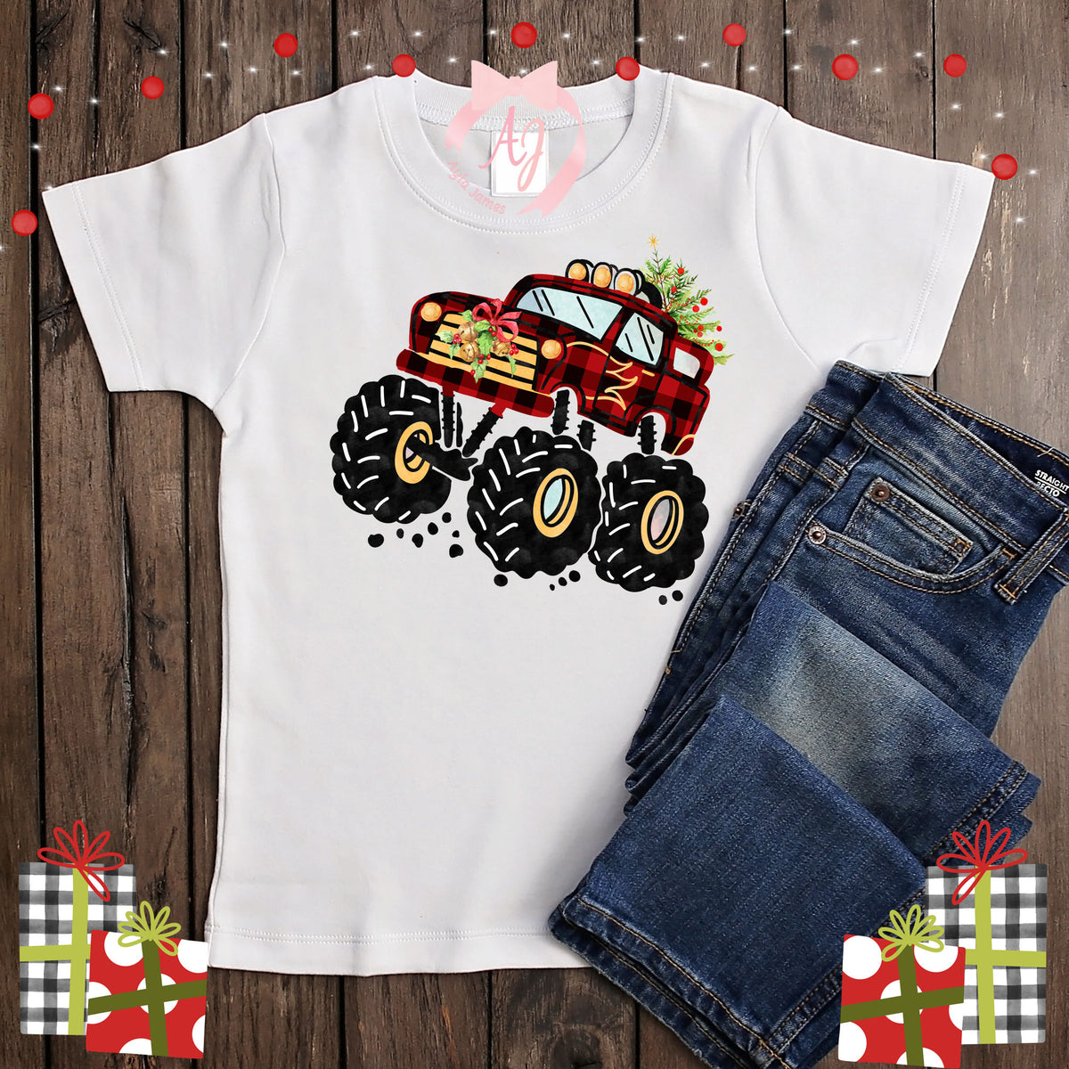 Christmas with Monster Trucks Shirt