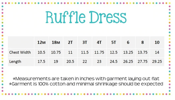 Long sleeve Ruffle Dress - Includes Monogram