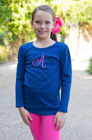 Navy Girls Longsleeve Top