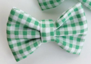 Green Gingham Bow or Headband