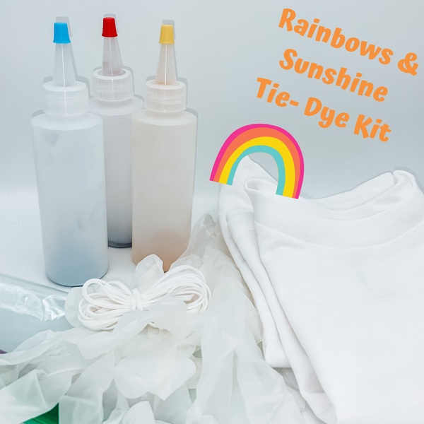 Rainbows and Sunshine Complete Tie-Dye Kit (INCLUDES 2 SHIRTS)