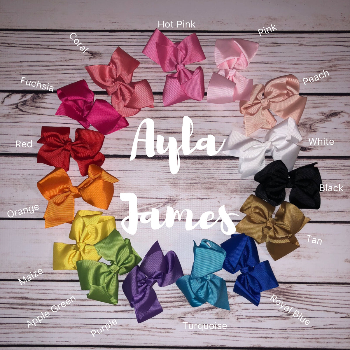 "4.5"" Bows with Alligator Clips"