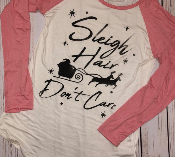 Adult - Sleigh Hair, Don't Care Long Sleeve Shirt