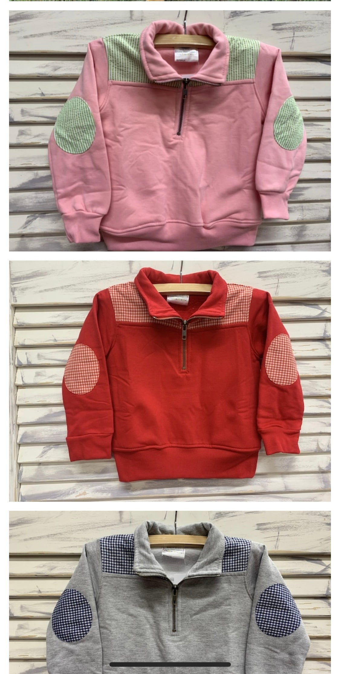 Mini and Me Pullovers (Red with Red Gingham)