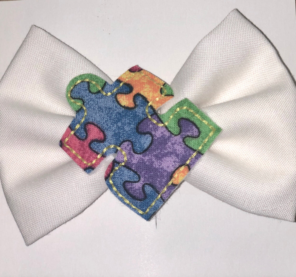 Autism Awareness- Bow, Headband, Hair Clip or Dog Collar Bow