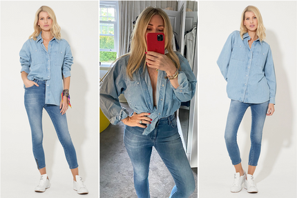 How to wear the Stolen Oversize Denim Shirt in Run For Your Life