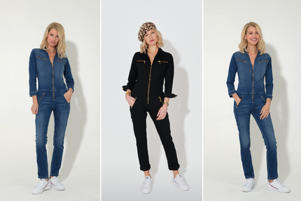 Dolly the Flight Suit in Blackest and Fawcett Blue are back, but not for long!