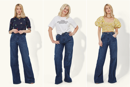 Magic Minnie the high waisted flare jeans are back in stock
