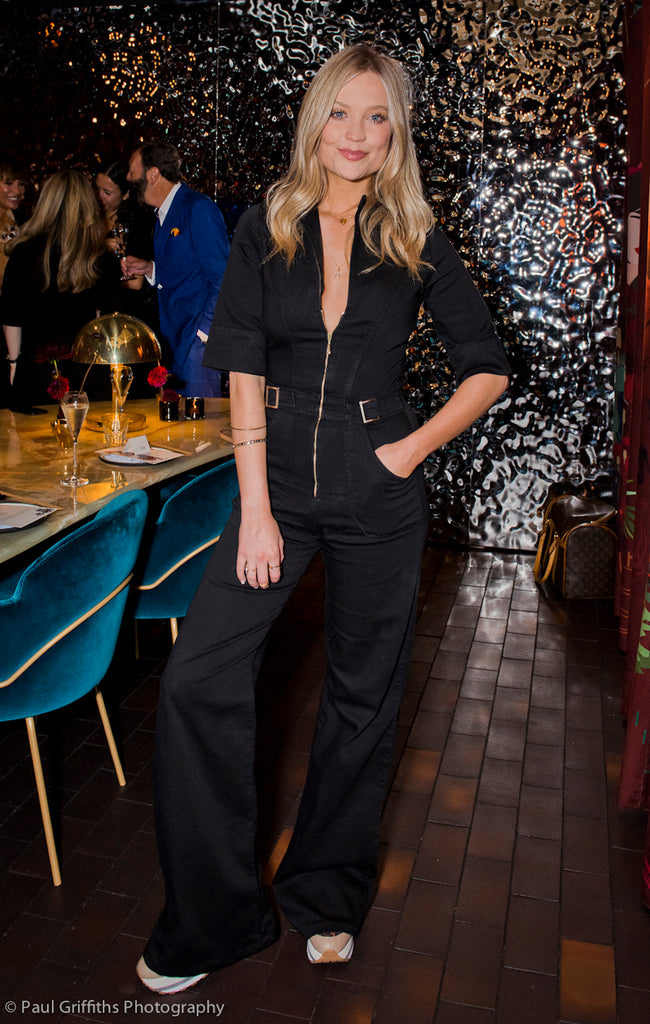 Donna Ida Cassandra Flared Jumpsuit at Black Roe Launch