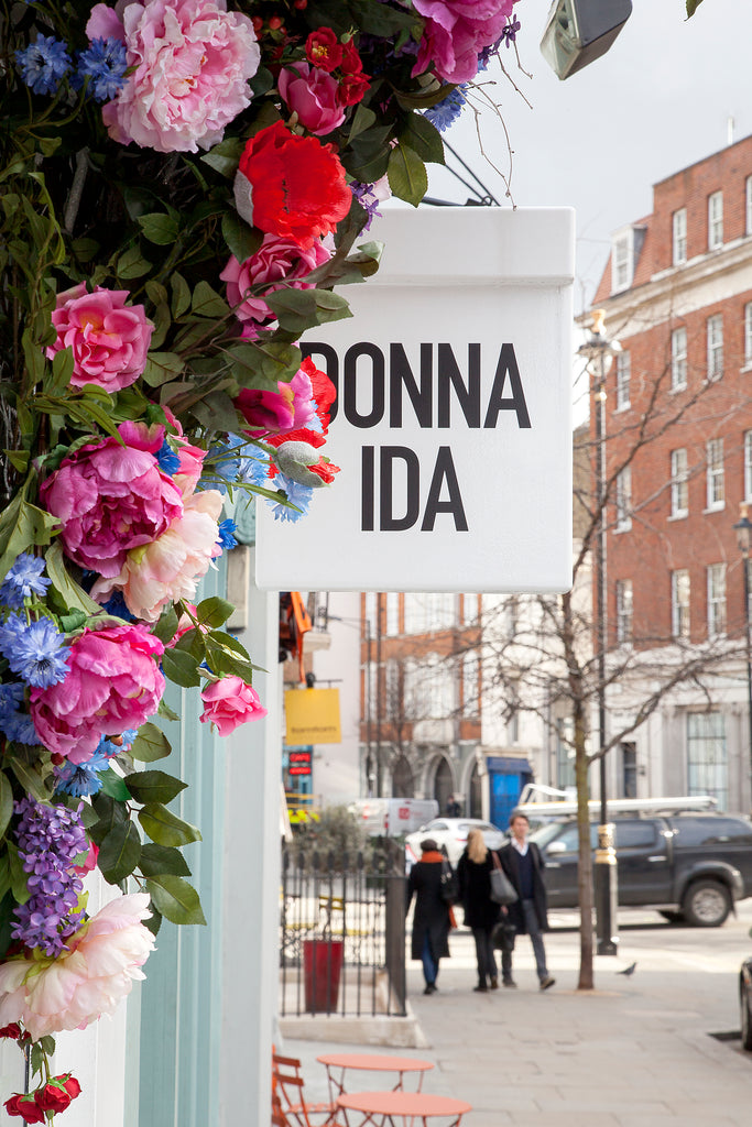 DONNA IDA Window Instagram London Belgravia