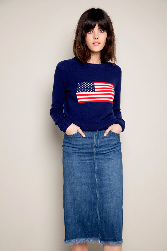 e7e6a927f The Iconic Brit in Love That Red, Aussie in Milk and American in Hello  Sailor Intarsia Cashmere Jumpers £325 are bold and striking pieces  featuring national ...