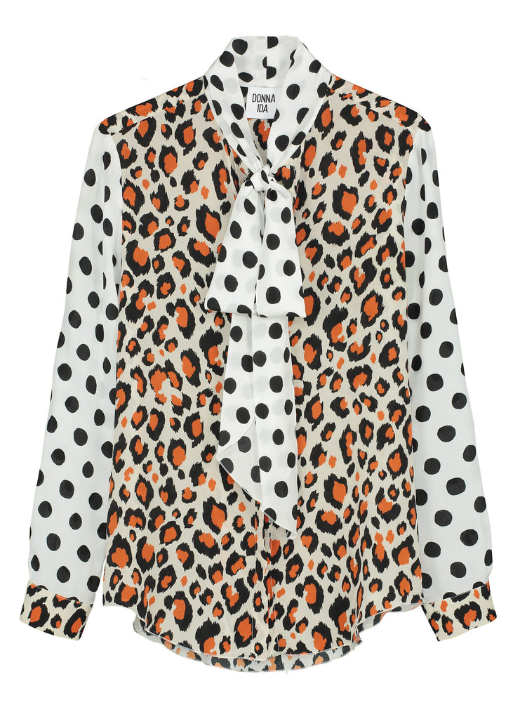 DONNA IDA Miss Maggie Blouse in Spot The Leopard at Bottega
