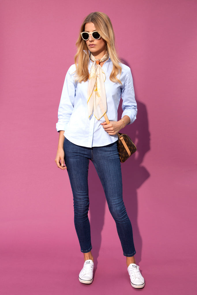 DONNA IDA Everyday Joy Shirt and Rizzo Jeans