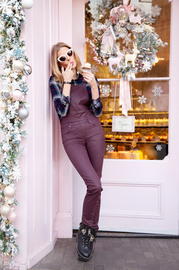 Donna Air wears DONNA IDA How Frilling Shirt and Eliza Dungarees