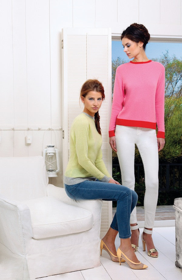 IDA Rizzo Ankle Skinny Lazy Dayz and Milk £160-175 and Collar and Cuffs Jumpers £275, London Fashion, Donna Ida, Denim, cashmere, jumpers, knitwear, pink and red, green and grey, street style, blogger style, models, campaign, photographer
