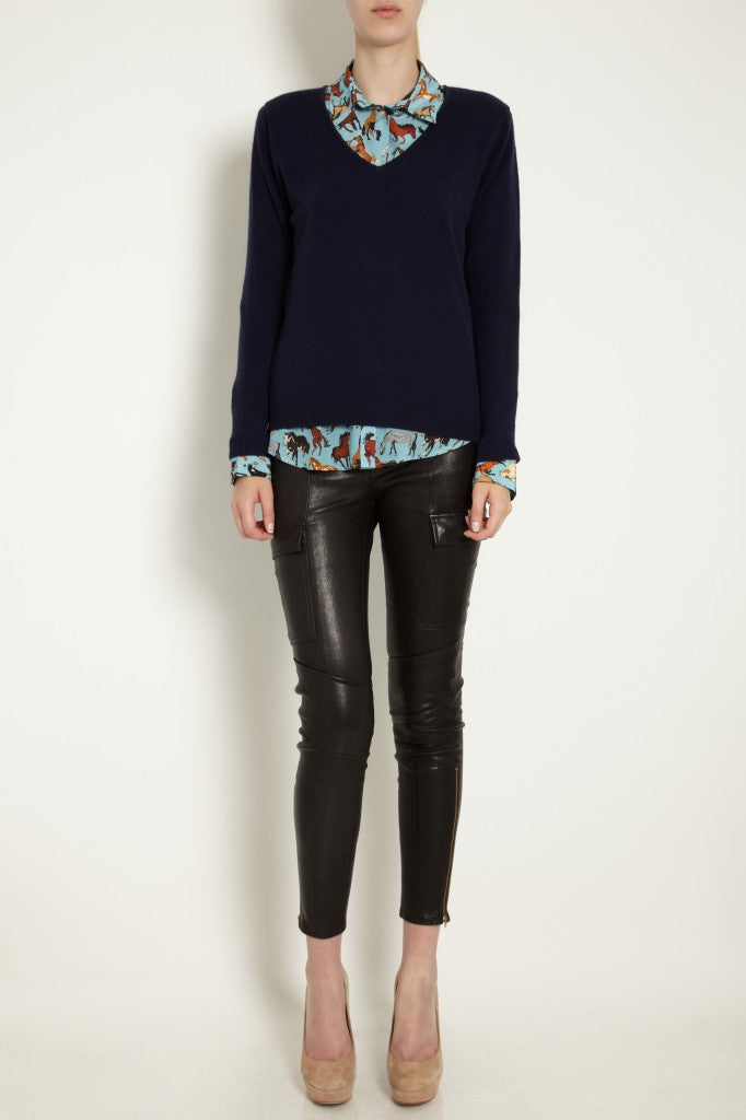 donna ida, london fashion, london style,j brand, leather jeans, skinny jeans, shirt, blouse, jumper, jersey, heels