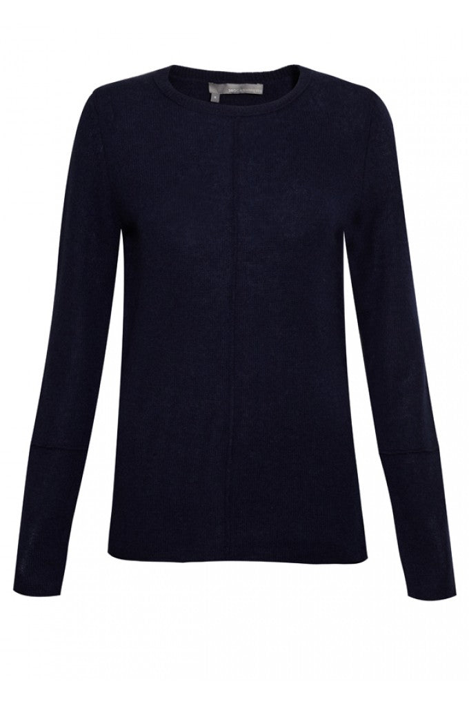 Cashmere 360 Sweater Bree in Navy, donna ida, london fashion, london style, knitwear, winter