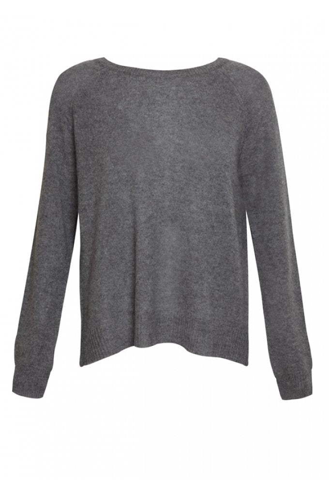 Cashmere 360 Sweater Gia in Heather Grey, donna ida, london fashion, london style, knitwear, winter