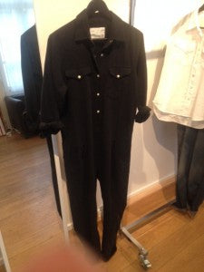 donna ida, london fashion, london style, jumpsuit, r13, black, button, full length, collar