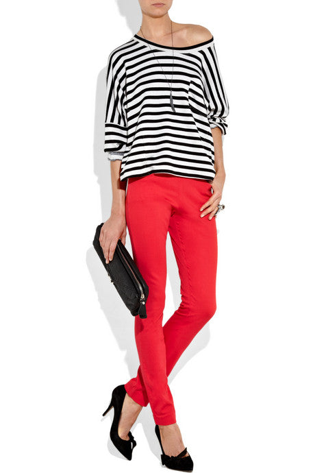 Acne red jeans