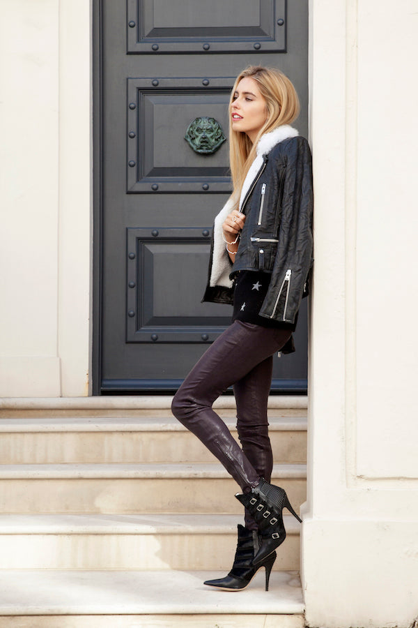 Amy Neville DONNA IDA On Stage Cashmere Knit IRO Jacket and J Brand Leather Jeans IMG_0730ss